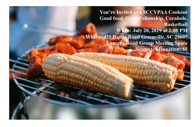 SCCYPAA Cookout